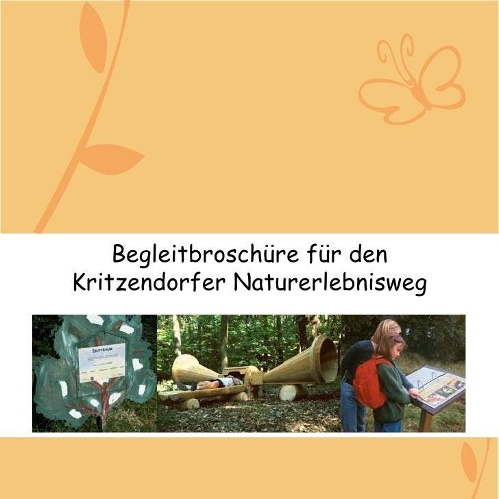Begleitbroschüre für denKritzendorfer Naturerlebnisweg