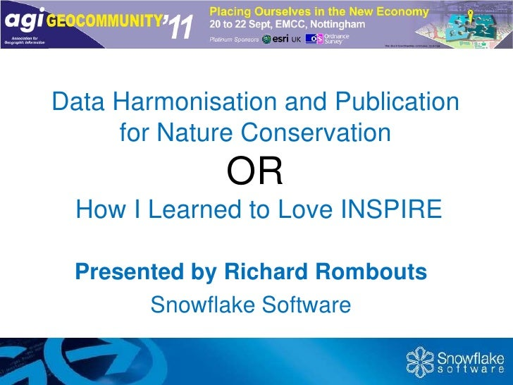 Data Harmonisation and Publication for Nature ConservationOR How I Learned to Love INSPIRE<br />Presented by Richard Rombo...