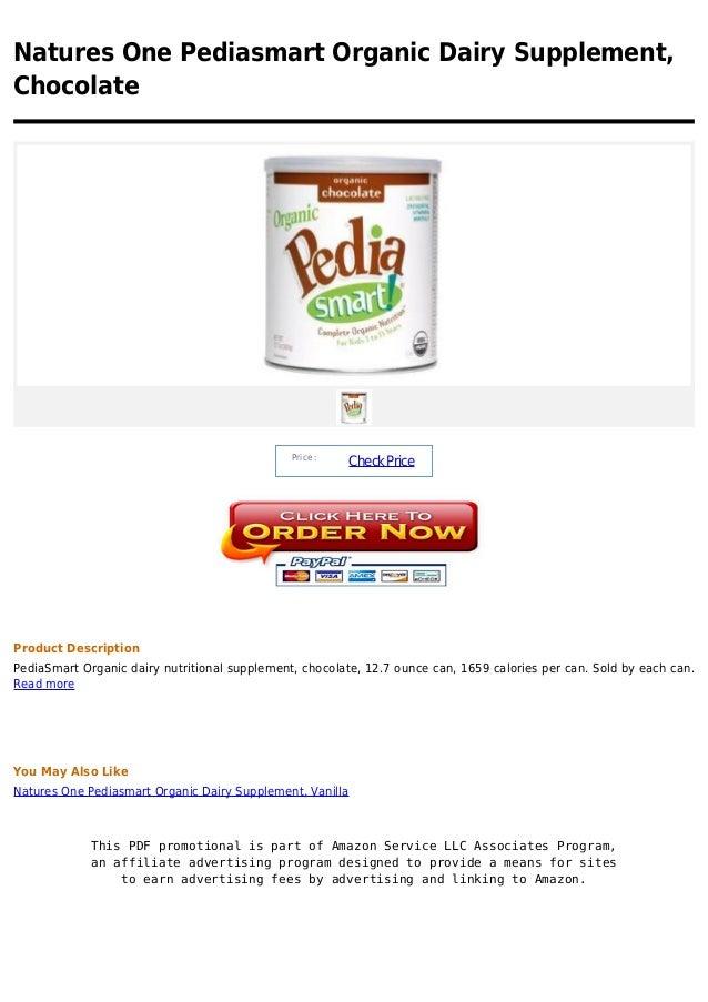Natures One Pediasmart Organic Dairy Supplement,Chocolate                                               Price :           ...