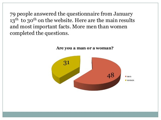 79 people answered the questionnaire from January13th to 30th on the website. Here are the main resultsand most important ...