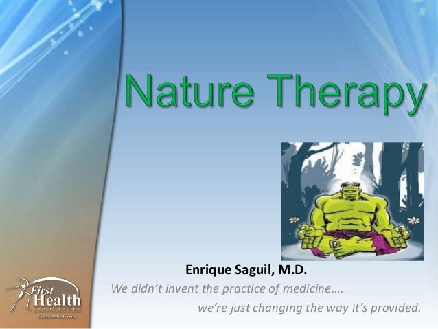 We didn't invent the practice of medicine…. we're just changing the way it's provided. Enrique Saguil, M.D.