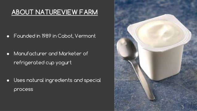 natureview case Case solution for natureview farm by karen martinsen fleming abstract: explores channel management issues in the us food industry natureview farm, a.