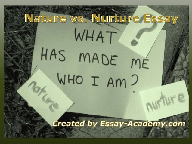 Sample Critical Essay on Nature vs. Nurture