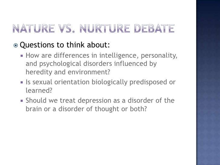 Nature vs nurture essay thesis statement