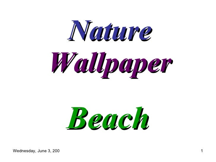 Nature  Wallpaper Beach