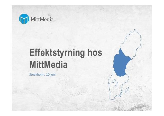 Effektstyrning hos MittMedia Stockholm,  10  juni