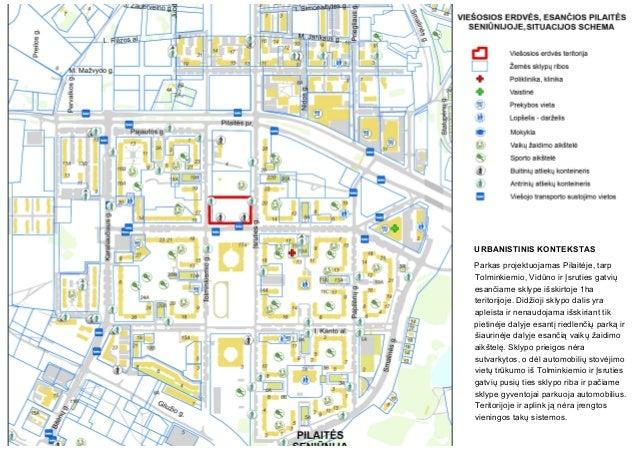URBANISTINIS KONTEKSTAS Parkas projektuojamas Pilaitėje, tarp Tolminkiemio, Vidūno ir Įsruties gatvių esančiame sklype išs...