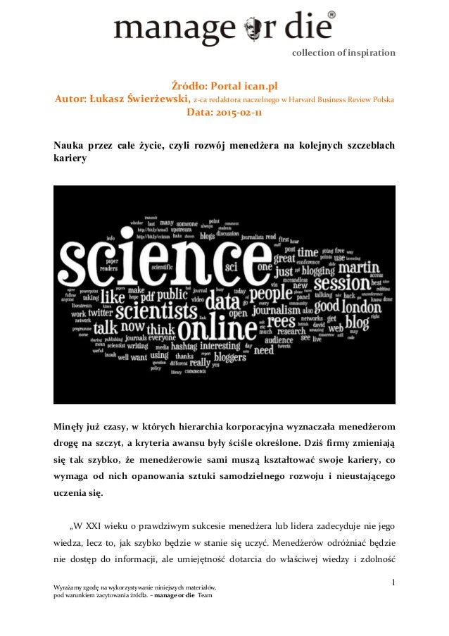 collection of inspiration Źródło: Portal ican.pl Autor: Łukasz Świerżewski, z-ca redaktora naczelnego w Harvard Business R...