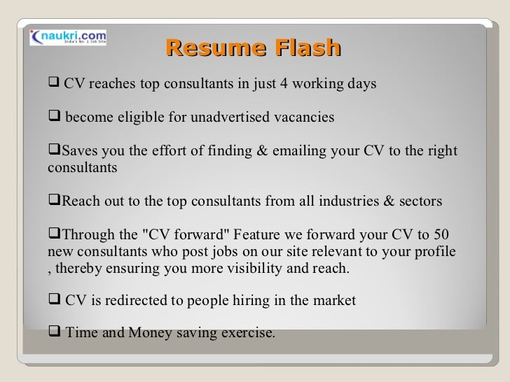 how to search resumes in naukri