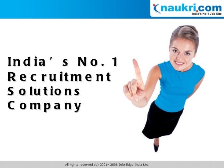 India's No. 1 Recruitment Solutions Company