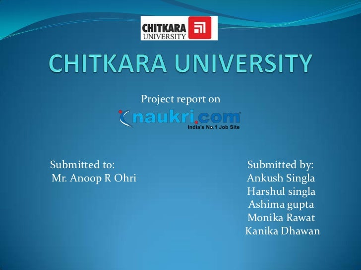 Project report onSubmitted to:                          Submitted by:Mr. Anoop R Ohri                       Ankush Singla ...