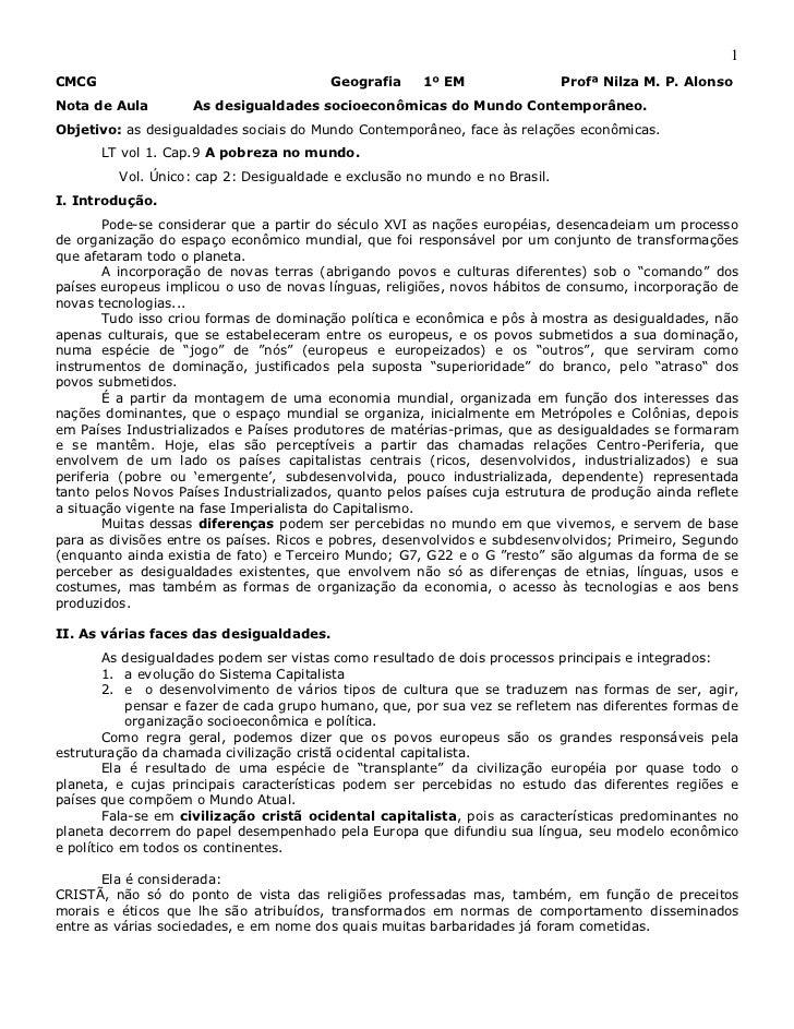 1CMCG                                     Geografia     1º EM                Profª Nilza M. P. AlonsoNota de Aula        A...