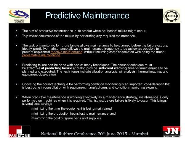 Predictive Maintenance The aim of predictive maintenance is to predict when equipment failure might occur. To prevent occu...