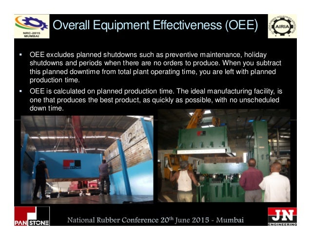 Overall Equipment Effectiveness (OEE) OEE excludes planned shutdowns such as preventive maintenance, holiday shutdowns and...