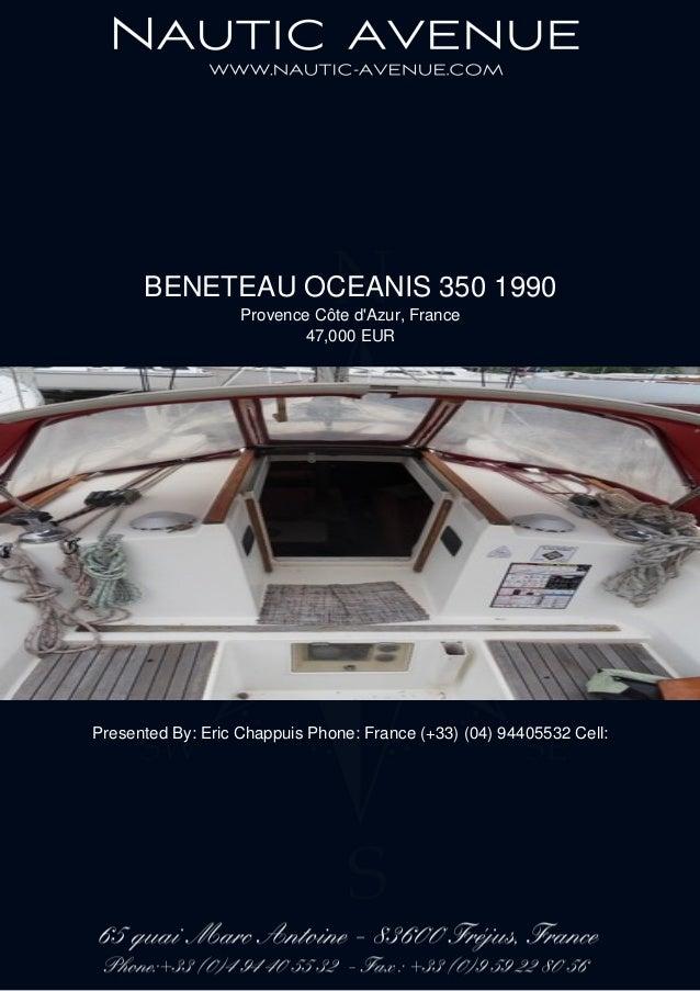 BENETEAU OCEANIS 350, 1990, 47 000 € For Sale Brochure