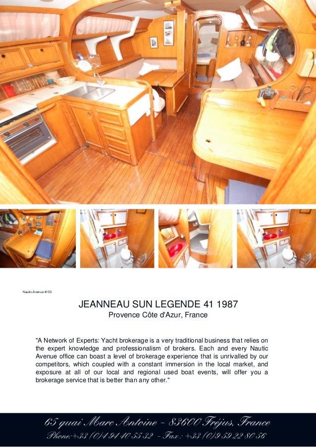 JEANNEAU SUN LEGENDE 41, 1987, 55 900 € For Sale Brochure