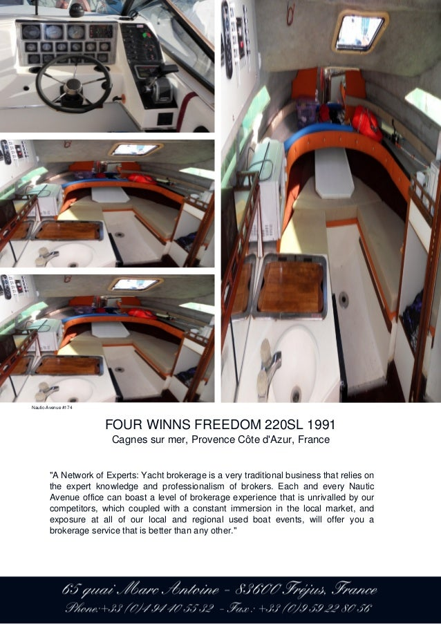 four winns freedom 220sl 1991 22 800 for sale brochure presented