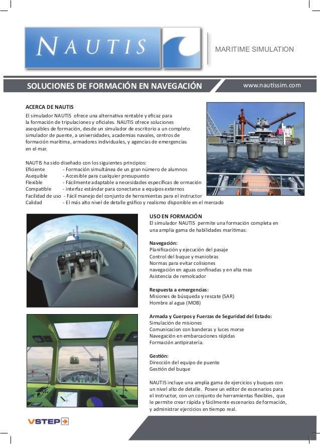 MARITIME SIMULATIONSOLUCIONES DE FORMACIÓN EN NAVEGACIÓN                                                            www.na...