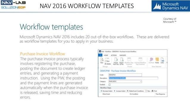 nav 2016 workflow