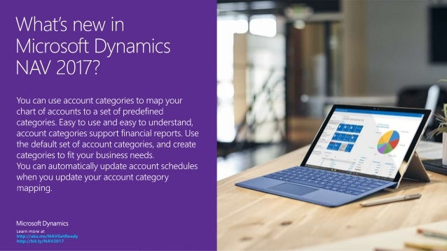 Microsoft Dynamics NAV 2017 - Account Categories Slide 2