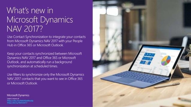 Microsoft Dynamics NAV 2017 - Contact synchronization Slide 2