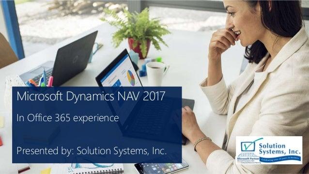 Microsoft Dynamics NAV 2017 - In Office 365 experience