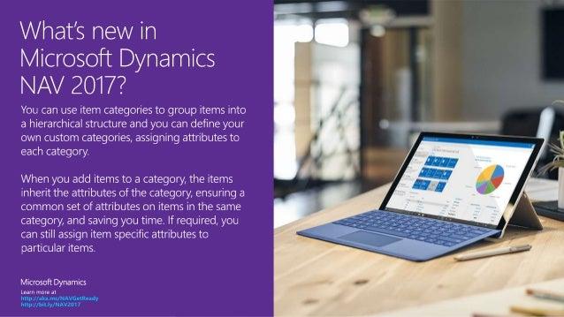 Microsoft Dynamics NAV 2017 - Item categories Slide 2