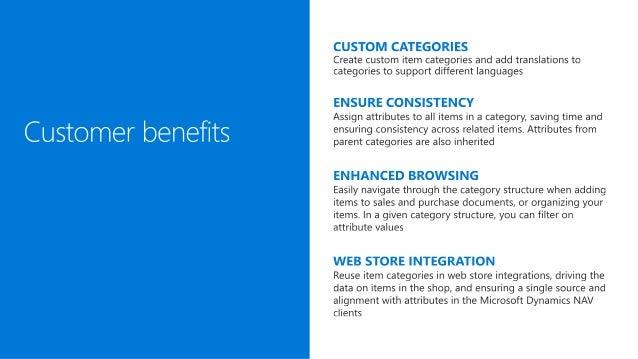 Microsoft Dynamics NAV 2017 - Item categories Slide 3