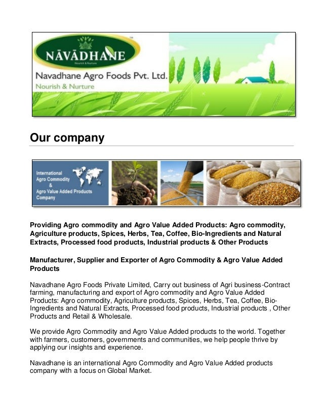 Animal Feed Ingredients/Raw Materials from Navadhane-Global
