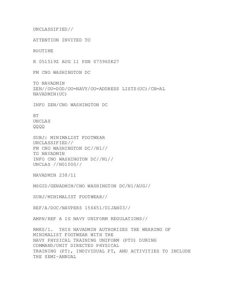 UNCLASSIFIED//ATTENTION INVITED TOROUTINER 051519Z AUG 11 PSN 075960K27FM CNO WASHINGTON DCTO NAVADMINZEN//OU=DOD/OU=NAVY/...