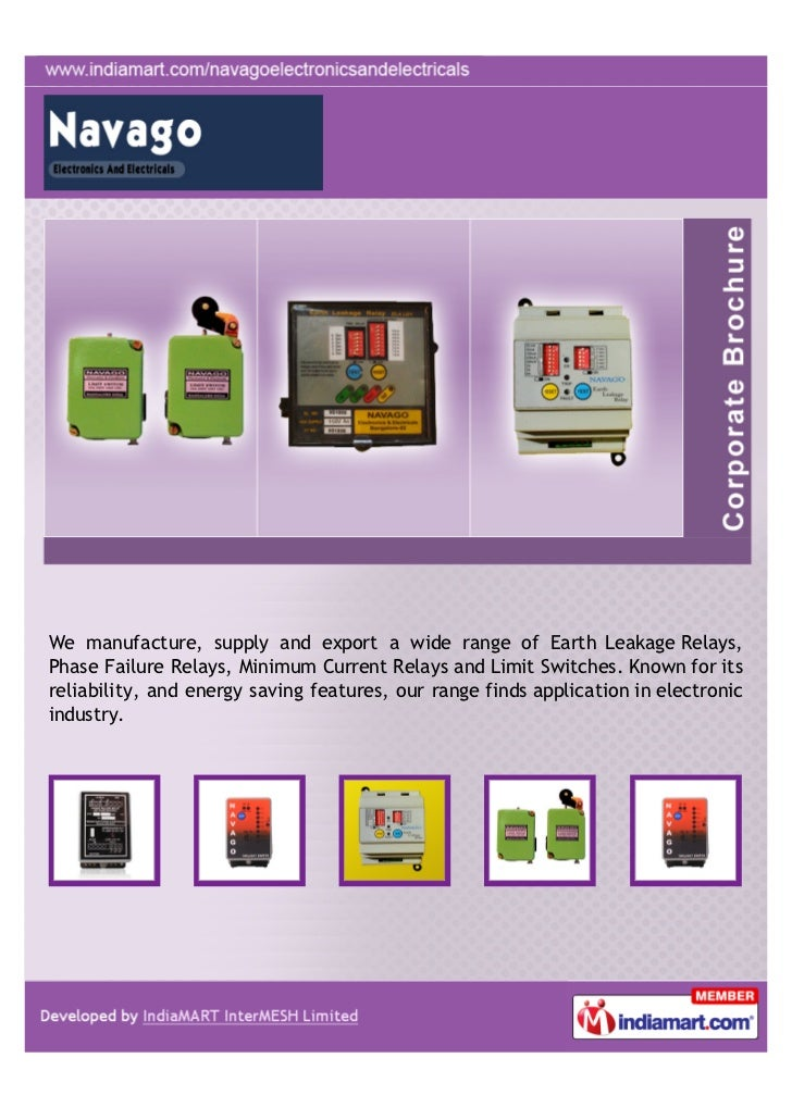 We manufacture, supply and export a wide range of Earth Leakage Relays,Phase Failure Relays, Minimum Current Relays and Li...