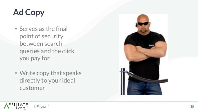| @navahf 50 • Serves as the final point of security between search queries and the click you pay for • Write copy that sp...