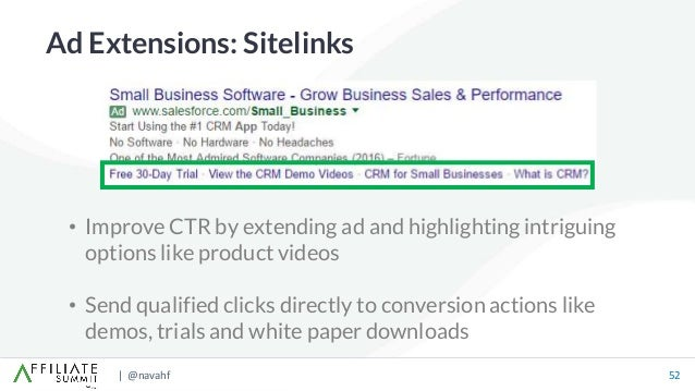 | @navahf 52 • Improve CTR by extending ad and highlighting intriguing options like product videos • Send qualified clicks...