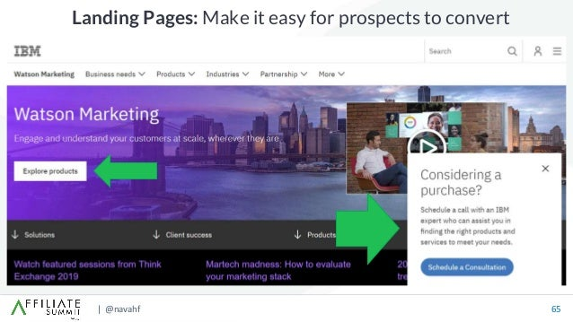 | @navahf 65 Landing Pages: Make it easy for prospects to convert