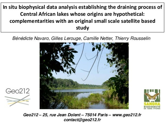 In situ biophysical data analysis establishing the draining process of Central African lakes whose origins are hypothetica...