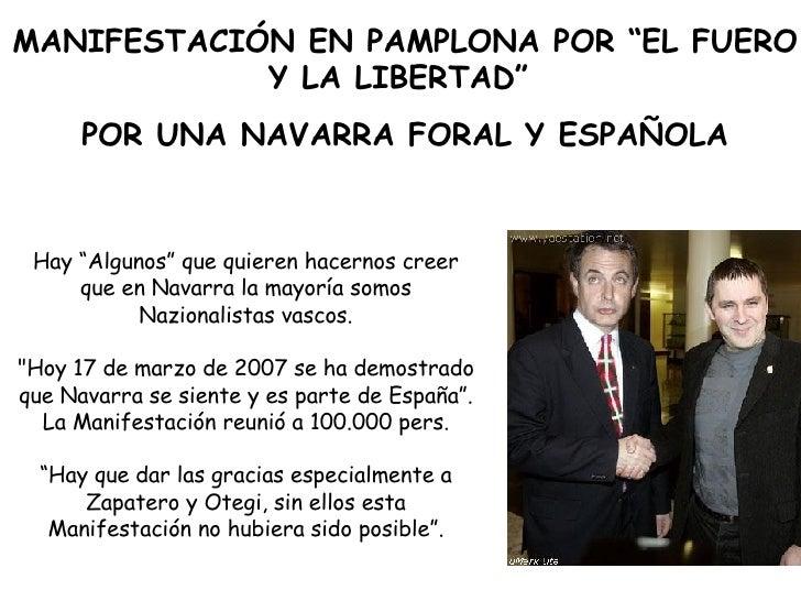 """Hay """"Algunos"""" que quieren hacernos creer que en Navarra la mayoría somos Nazionalistas vascos. """"Hoy 17 de marzo de 20..."""