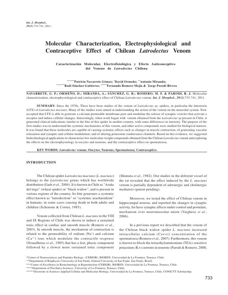 Int. J. Morphol.,29(3):733-741, 2011.               Molecular Characterization, Electrophysiological and               Con...