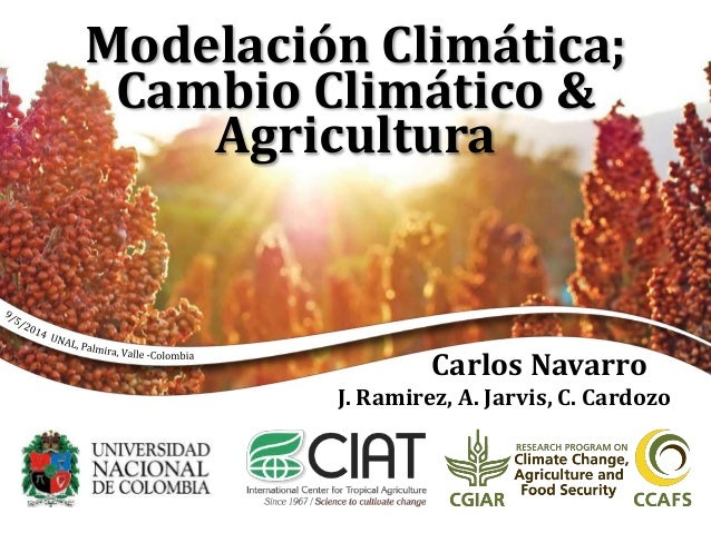 Modelación Climática; Cambio Climático & Agricultura Carlos Navarro J. Ramirez, A. Jarvis, C. Cardozo