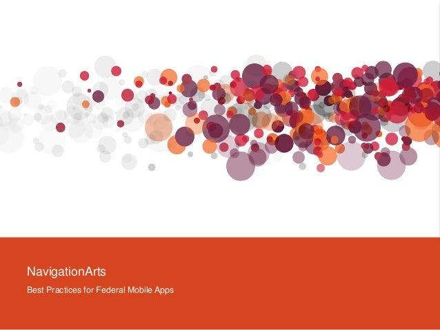 NavigationArtsBest Practices for Federal Mobile Apps