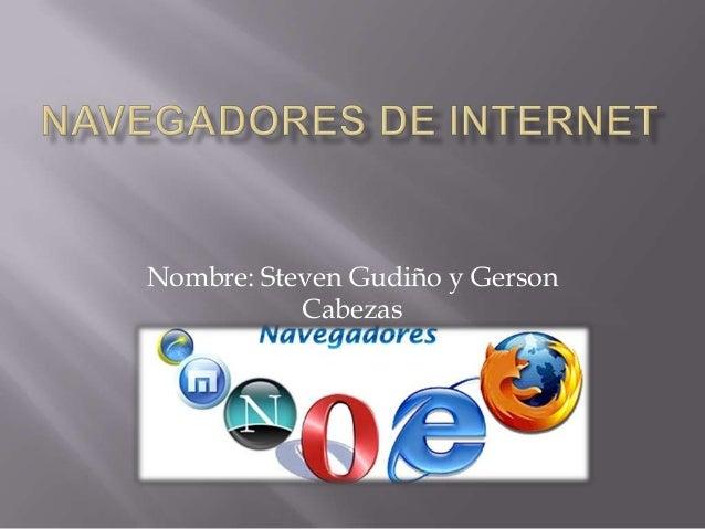 Nombre: Steven Gudiño y GersonCabezas