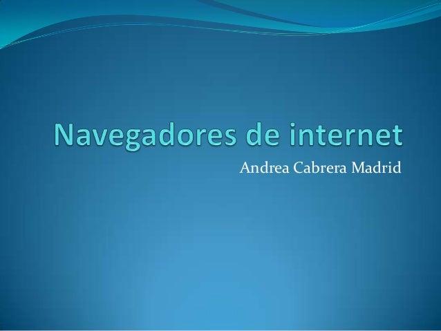 Andrea Cabrera Madrid