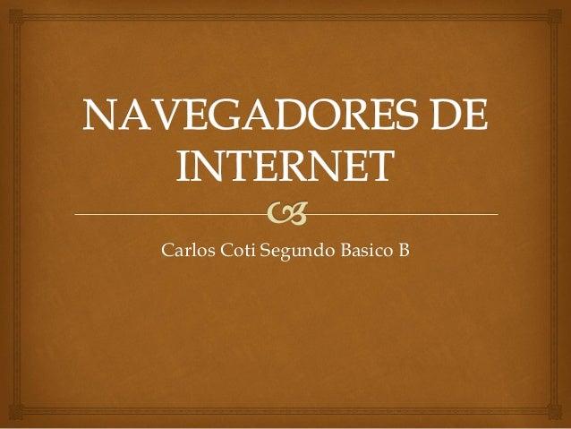 Carlos Coti Segundo Basico B