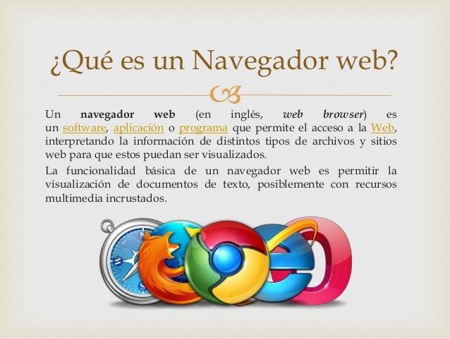 Navegadores web Slide 2