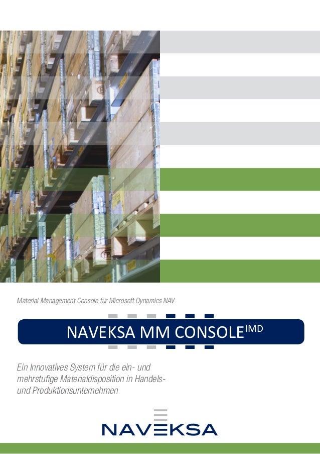 NAVEKSA CADCONNECTPML NAVEKSA MM CONSOLEIMD NAVEKSA SHOPFLOORSFS Ein Innovatives System für die ein- und mehrstufige Mater...