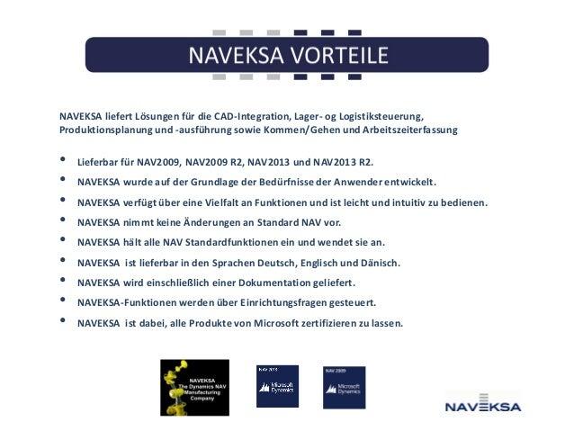 NAVEKSA liefert Lösungen für die CAD-Integration, Lager- og Logistiksteuerung, Produktionsplanung und -ausführung sowie Ko...