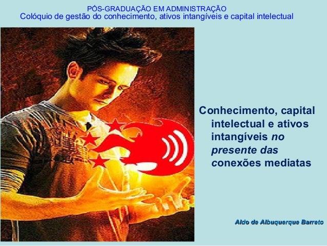 PÓS-GRADUAÇÃO EM ADMINISTRAÇÃOColóquio de gestão do conhecimento, ativos intangíveis e capital intelectual                ...