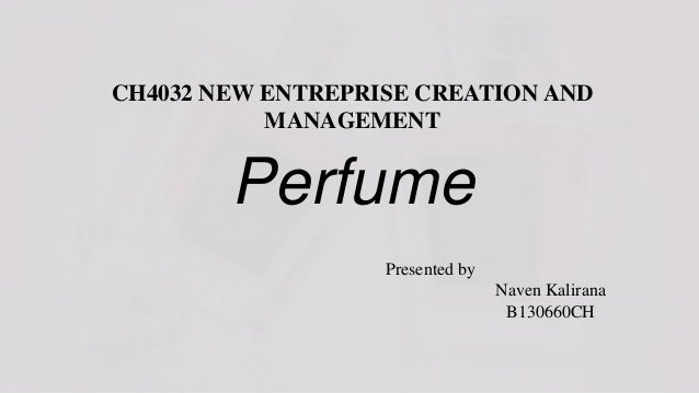 Business plan (perfume startup) or business plan sample