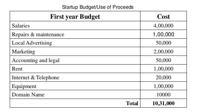 Startup Budget Template from image.slidesharecdn.com