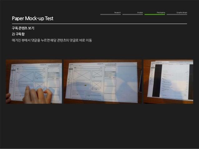 Research Analysis Prototyping Graphic design  WOM Analysis  2012. 10. 16  NAVER me 구독기능 강화  구독 콘텐츠 보기  2) 구독함  매거진 뷰에서 댓글을...