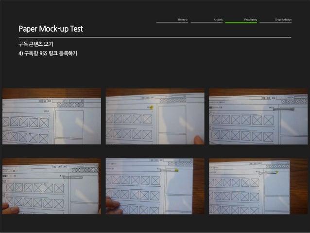 Research Analysis Prototyping Graphic design  WOM Analysis  2012. 10. 16  NAVER me 구독기능 강화  구독 콘텐츠 보기  4) 구독함 RSS 링크 등록하기 ...